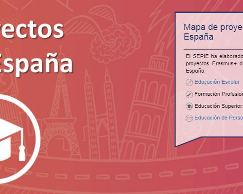 Mapa de proyectos Erasmus+ en España del @sepiegob