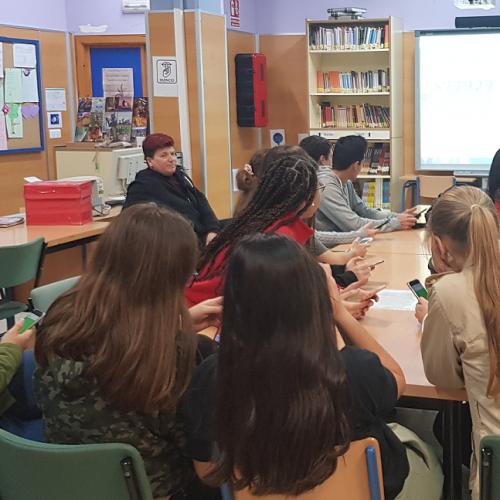 Segunda sesión formativa de ITC en el IES La Cala- proyecto IP: play with it! #IntellectualProperty #jovenes