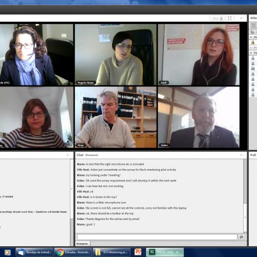 Nos reunimos virtualmente con los socios de KNOW HUBs – #educacióndeadultos, #mentoring, #innovación